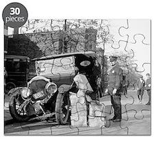Police Capture Bootleggers Car Puzzle