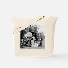 Police Capture Bootleggers Car Tote Bag