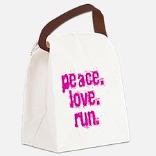 peaceloverun Canvas Lunch Bag