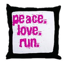 peaceloverun Throw Pillow