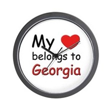 My heart belongs to georgia Wall Clock
