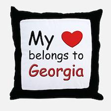 My heart belongs to georgia Throw Pillow