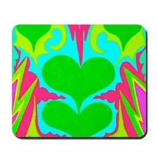 BFB Angel Hearts Light GreenLight Blue 1 Mousepad
