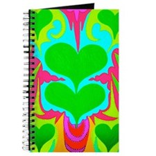 BFB Angel Hearts Light GreenLight Blue 11x Journal