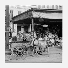 New Orleans French Market Tile Coaster