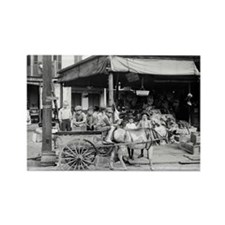 New Orleans French Market Rectangle Magnet