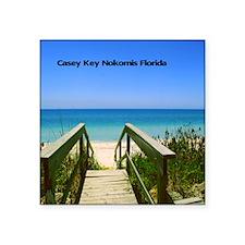 "Casey Key9.5x8 Square Sticker 3"" x 3"""