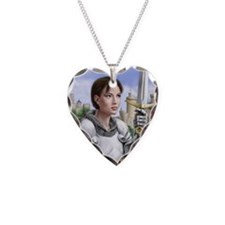 joan of arc gazing up Necklace