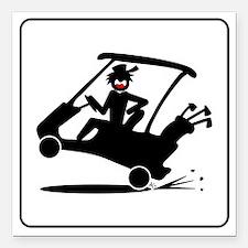 "golf-cart-47 Square Car Magnet 3"" x 3"""