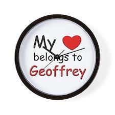 My heart belongs to geoffrey Wall Clock