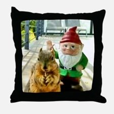 squirrelgnome Throw Pillow