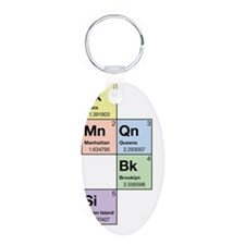 3-periodictable_nyc5boros Keychains