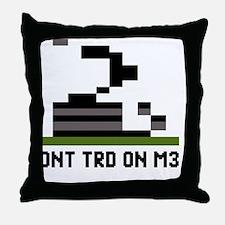 Pixel-Txt--Dont-Tread-On-Me-6239x4167 Throw Pillow
