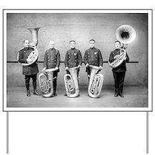 Police Band Tuba Players Yard Sign