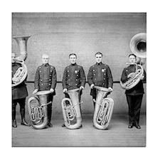 Police Band Tuba Players Tile Coaster