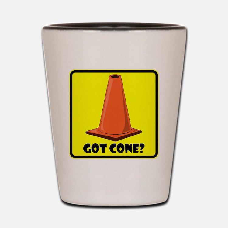 sign-got-cone-1-ylw Shot Glass