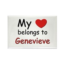 My heart belongs to genevieve Rectangle Magnet
