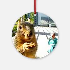 squirrelqueen copy Round Ornament