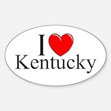 """I Love Kentucky"" Oval Decal"