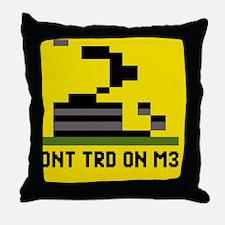 3-Pixel-Txt--Dont-Tread-On-Me-6239x41 Throw Pillow