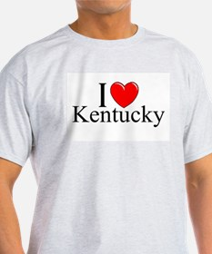 """I Love Kentucky"" Ash Grey T-Shirt"