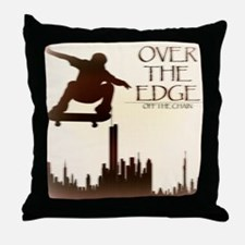 Over The Edge Sk8Ter Throw Pillow