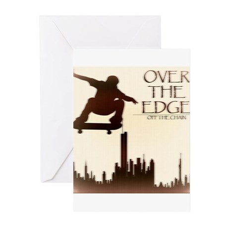 Over The Edge Sk8Ter Greeting Cards (Pk of 10)