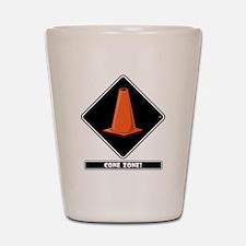 cone-zone-dmnd-bk Shot Glass