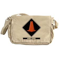 cone-zone-dmnd-bk Messenger Bag