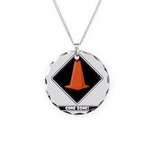 cone-zone-dmnd-bk Necklace