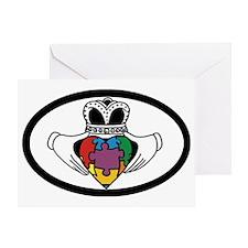 claddagahspectrumV2 Greeting Card