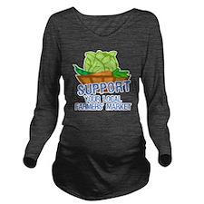 supportFarmersMkt Long Sleeve Maternity T-Shirt