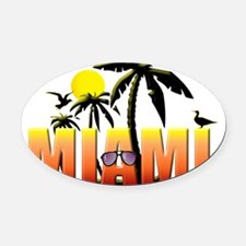miami Oval Car Magnet