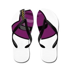 fedora-purple-large-black_mkiii Flip Flops