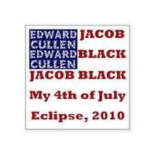 "Eclipse4thJuly Square Sticker 3"" x 3"""