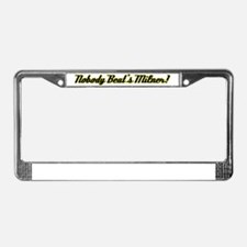 NobodyBeatsMilner License Plate Frame
