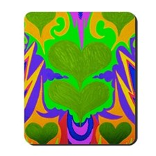BFB Angel Hearts Light GreenLight Green  Mousepad