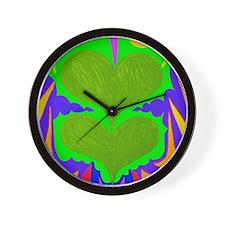 BFB Angel Hearts Light GreenLight Green Wall Clock