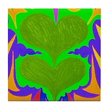 BFB Angel Hearts Light GreenLight Gre Tile Coaster