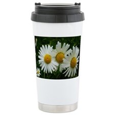 White Daisy Trio Travel Mug