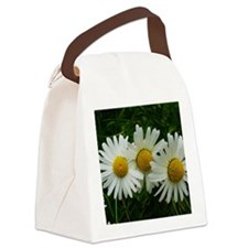 White Daisy Trio Canvas Lunch Bag
