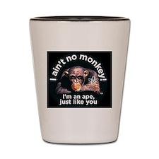 rectangle aint no monkey-larger Shot Glass