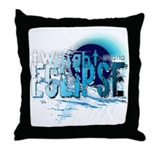 eclipse black water by twibaby Throw Pillow
