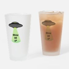 Beam Me Up Drinking Glass