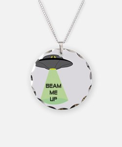 Beam Me Up Necklace Circle Charm