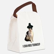 Thanksgiving Turkey Lolcat Canvas Lunch Bag