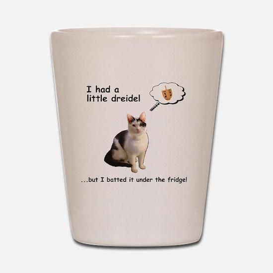 Hannukah Dreidel Cat Shot Glass
