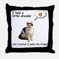Hannukah Dreidel Cat Throw Pillow