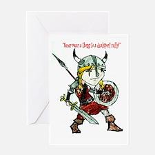 WarriorPrincessThong Greeting Card