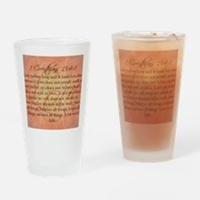 love 1 corinthians Drinking Glass